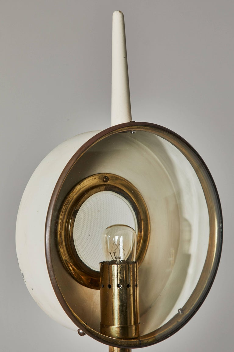 Brass Rare Floor Lamp in the style of Angelo Lelli for Arredoluce For Sale