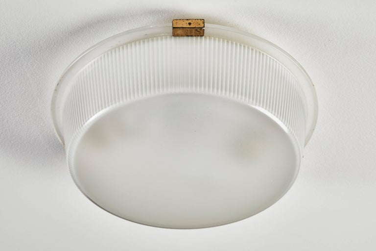 Three Rare Flush Mount Wall/Ceiling Lights by Ignazio Gardella for Azucena In Good Condition For Sale In Los Angeles, CA
