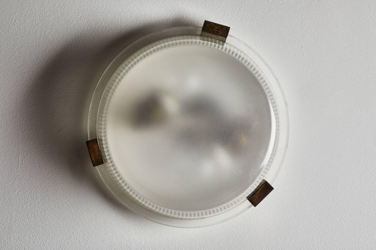 Three Rare Flush Mount Wall/Ceiling Lights by Ignazio Gardella for Azucena For Sale 2