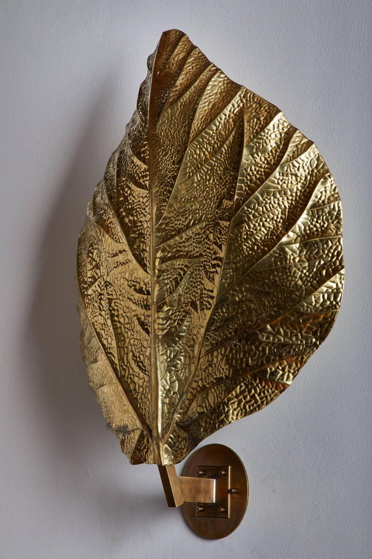 """Three Sculptural """"Leaf"""" Wall Lights by Tommaso Barbi In Good Condition For Sale In Los Angeles, CA"""