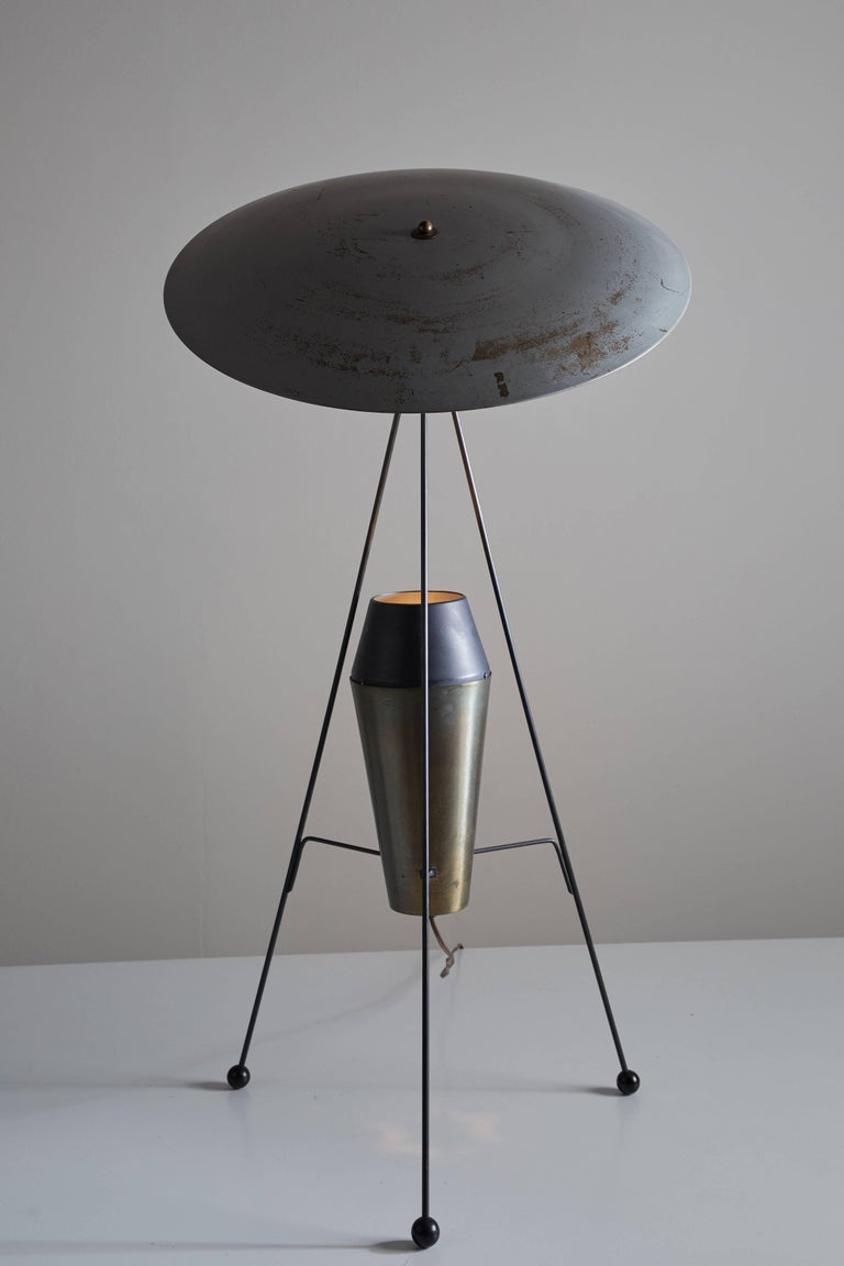 A.W. and Marion Model F-2 G Geller Floor Lamp for Heifetz In Good Condition For Sale In Los Angeles, CA