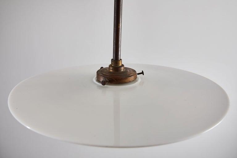 Rare Industrial Milk Glass Pendant For Sale 3