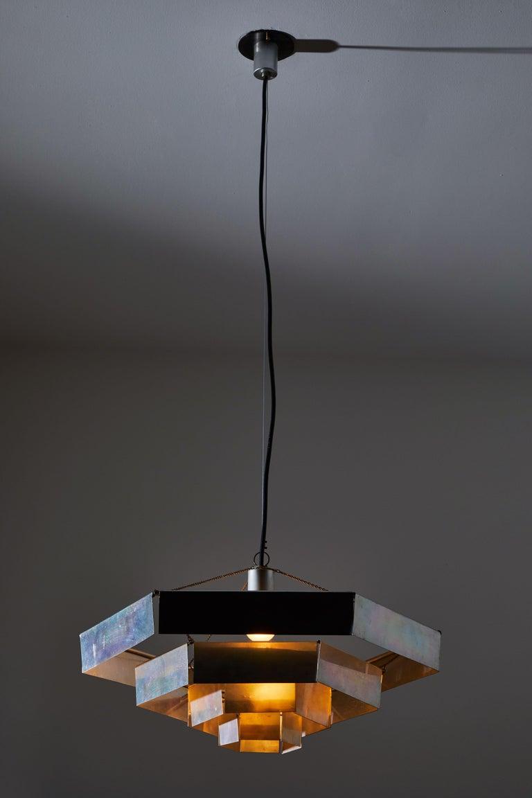 Mid-Century Modern Rare Suspension Light by Bruno Munari for Danese Milano For Sale