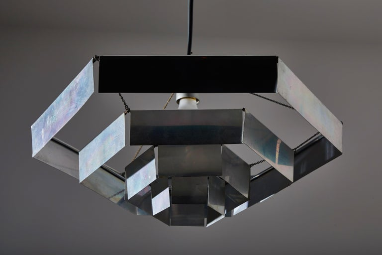 Rare Suspension Light by Bruno Munari for Danese Milano In Good Condition For Sale In Los Angeles, CA