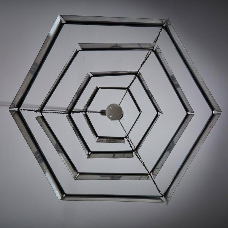 Rare Suspension Light by Bruno Munari for Danese Milano For Sale 1
