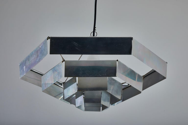 Aluminum Rare Suspension Light by Bruno Munari for Danese Milano For Sale