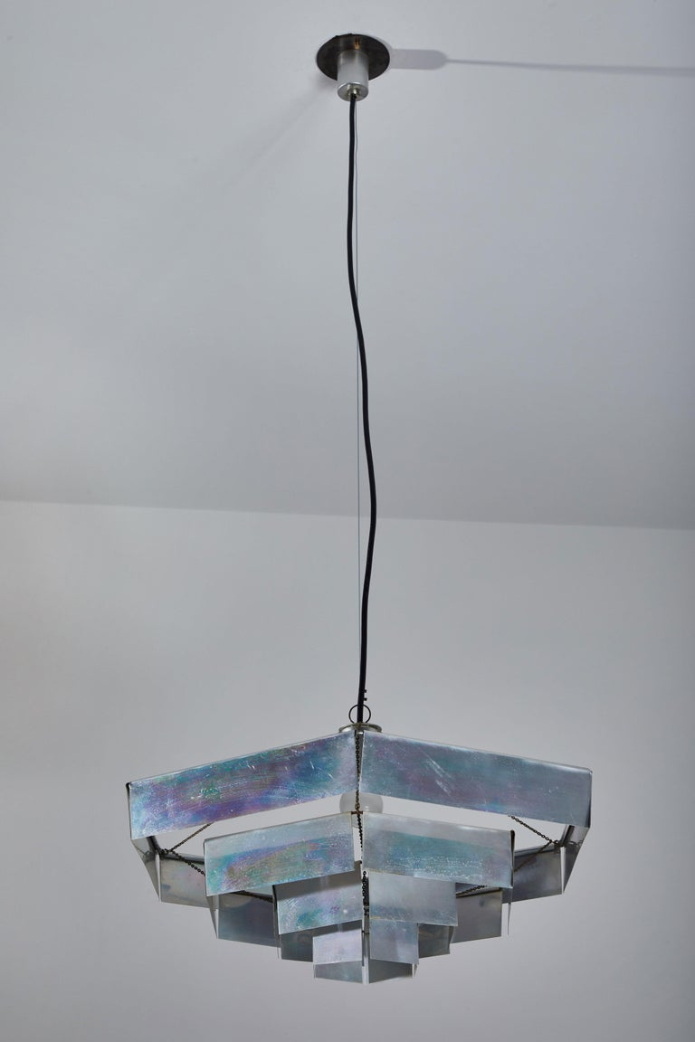 Anodized Rare Suspension Light by Bruno Munari for Danese Milano For Sale