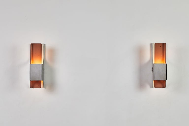 Mid-Century Modern Three French Sconces For Sale