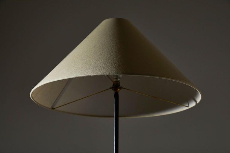 Linen French Floor Lamp For Sale