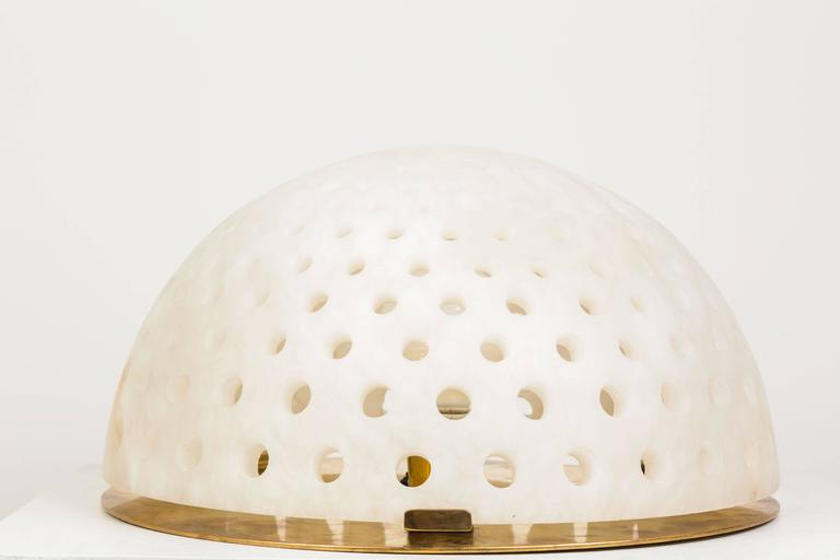 Alabaster Table Lamp by Angelo Mangiarotti In Good Condition For Sale In Los Angeles, CA
