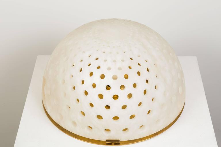 Italian Alabaster Table Lamp by Angelo Mangiarotti For Sale