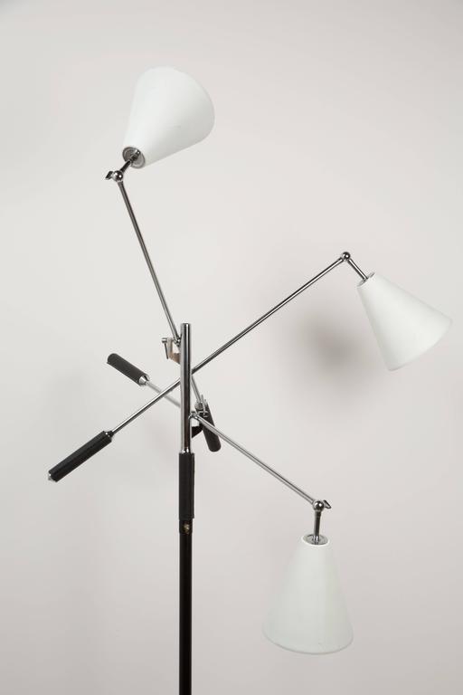 Aluminum Arredoluce Triennale Floor Lamp by Angelo Lelli For Sale