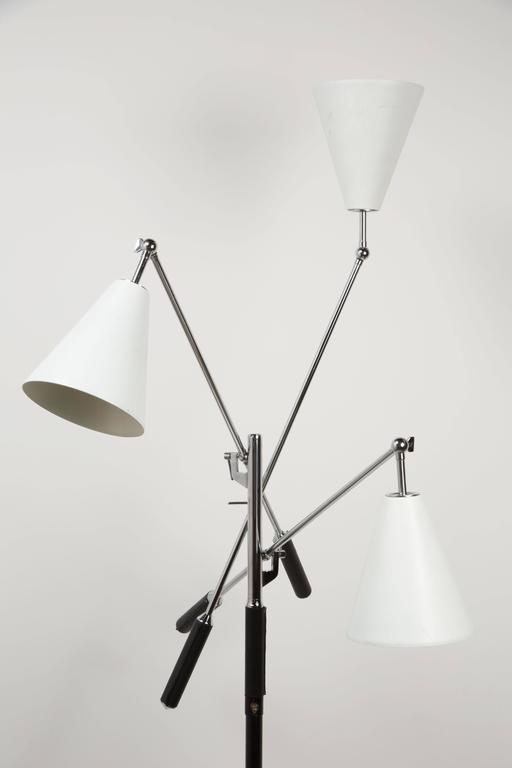Arredoluce Triennale Floor Lamp by Angelo Lelli In Excellent Condition For Sale In Los Angeles, CA