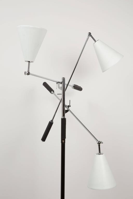 Italian Arredoluce Triennale Floor Lamp by Angelo Lelli For Sale