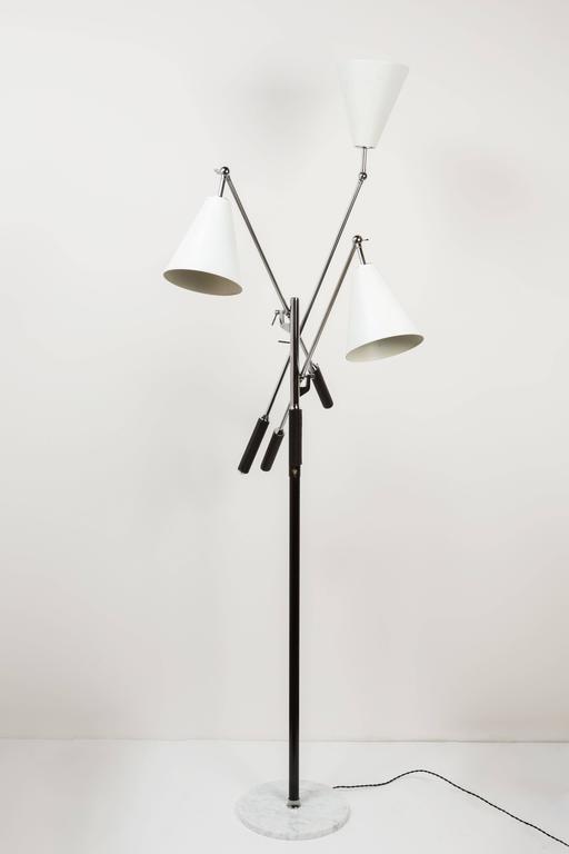 Mid-20th Century Arredoluce Triennale Floor Lamp by Angelo Lelli For Sale