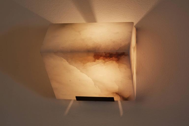 Simple Sloping Block Wall Lamp by Pierre Chareau 4