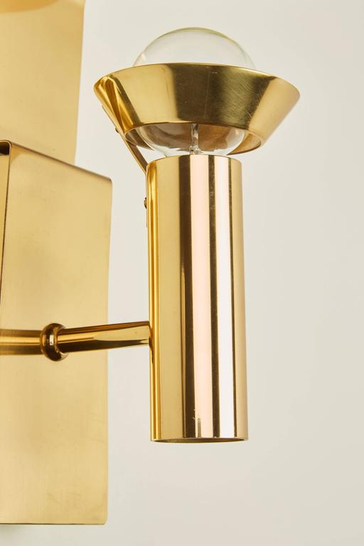 Two Brass Swedish Sconces by Focus Design For Sale 3