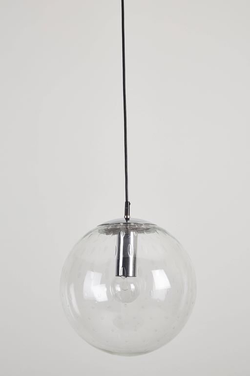 Mid-Century Modern Five Glass Globes Pendants by RAAK For Sale