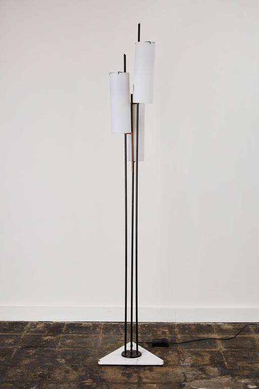 Italian Three Shade Floor Lamp by Stilnovo For Sale