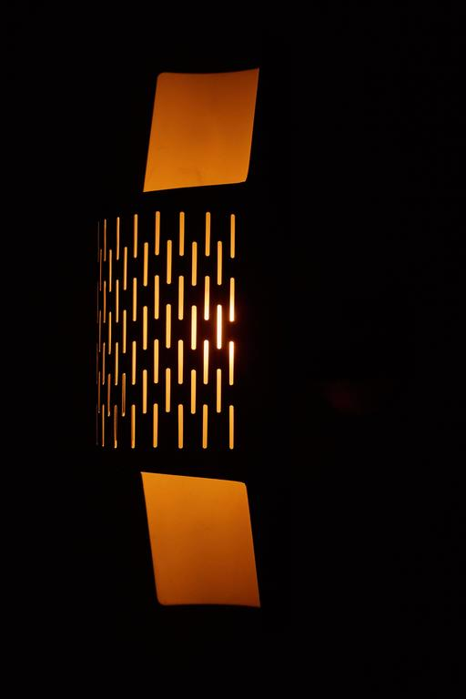 Pair of Perforated Brass Sconces by Ateljé Lyktan 3