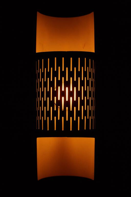 Pair of Perforated Brass Sconces by Ateljé Lyktan 2