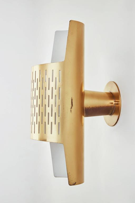 Pair of Perforated Brass Sconces by Ateljé Lyktan 5