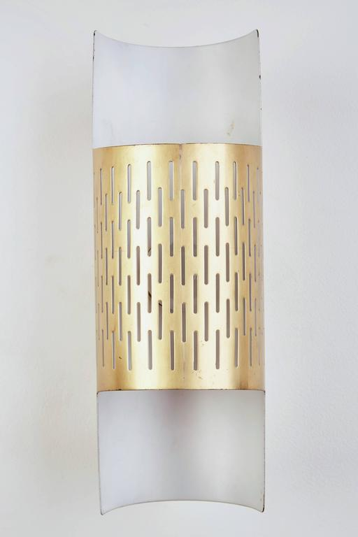 Pair of Perforated Brass Sconces by Ateljé Lyktan 4