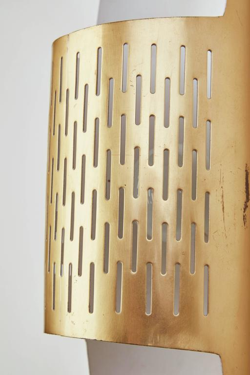 Pair of Perforated Brass Sconces by Ateljé Lyktan 6