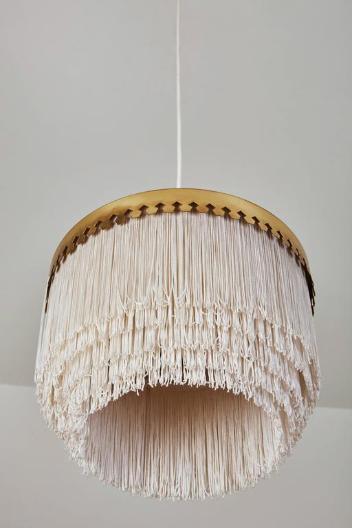 Brass and Silk Cord Pendant by Hans-Agne Jakobsson for Markaryd In Excellent Condition For Sale In Los Angeles, CA