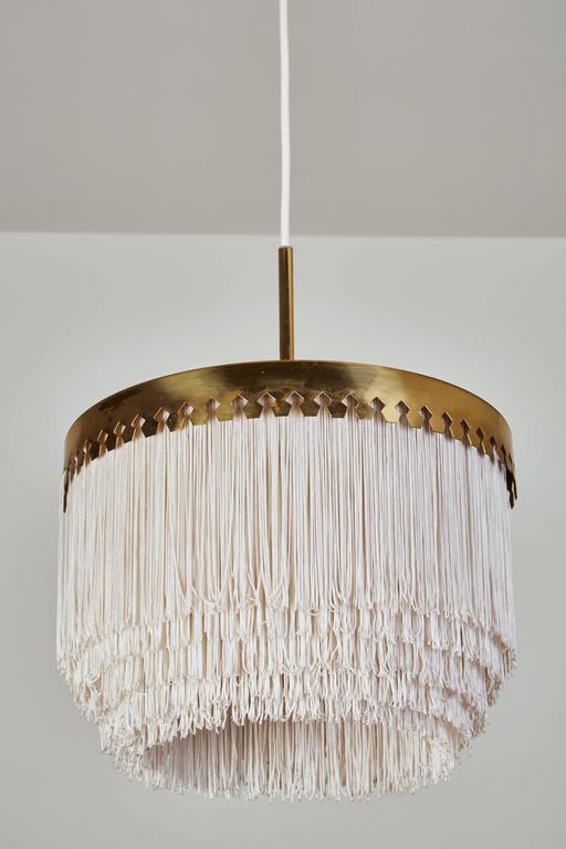 Brass and Silk Cord Pendant by Hans-Agne Jakobsson for Markaryd 4