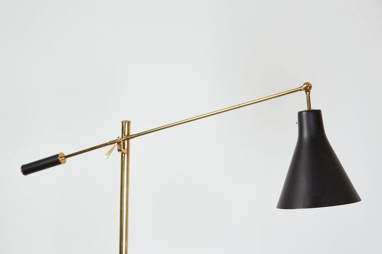Mid-Century Modern Brass Floor Lamp by Angelo Lelli for Arredoluce For Sale