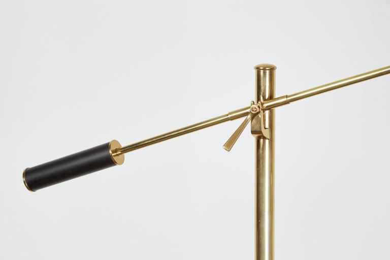 Mid-20th Century Brass Floor Lamp by Angelo Lelli for Arredoluce For Sale