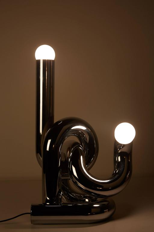 Chromed Steel Table Lamp by Giovanni Banci 4