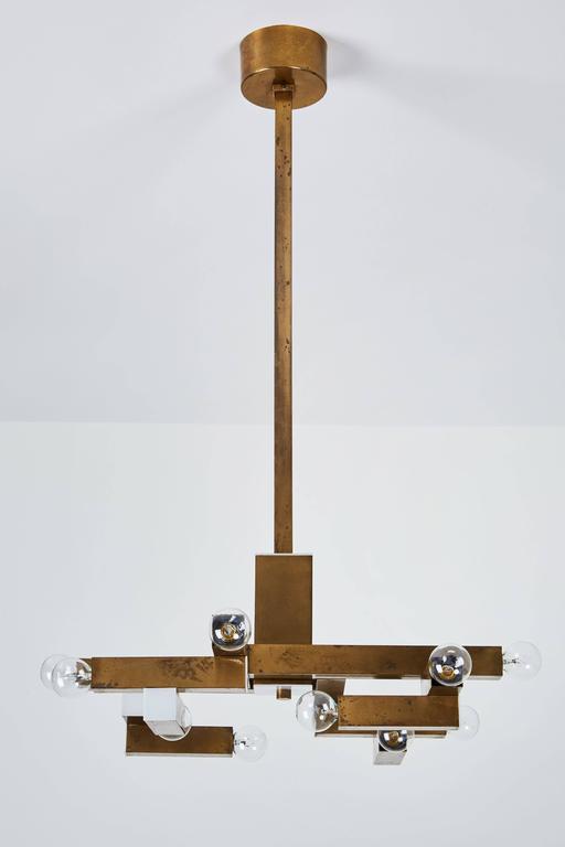 Italian Brass Chandelier by Lumi 5