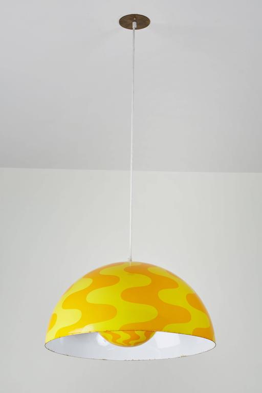 "Rare ""Big Flowerpot"" Pendant by Verner Panton for Louis Poulsen 4"