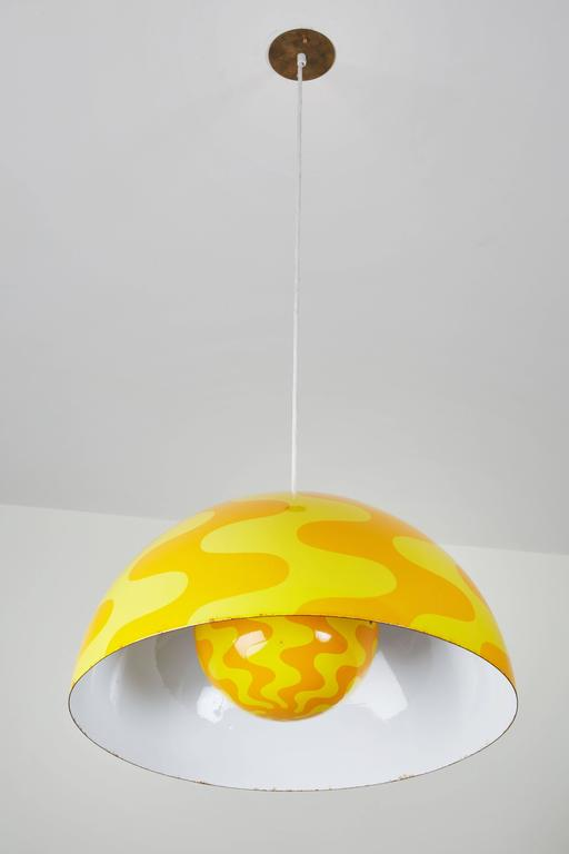 "Rare ""Big Flowerpot"" Pendant by Verner Panton for Louis Poulsen 5"