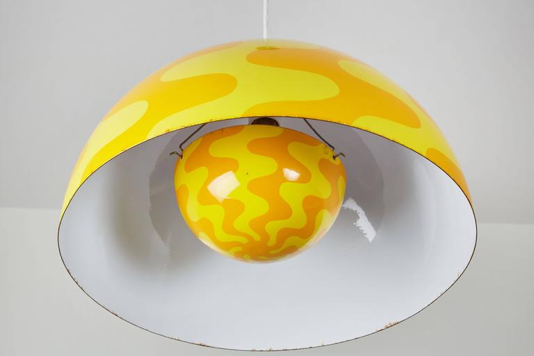 "Rare ""Big Flowerpot"" Pendant by Verner Panton for Louis Poulsen 7"