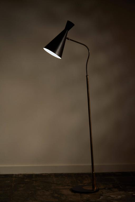 Floor Lamp with Articulating Shade by Stilnovo 2