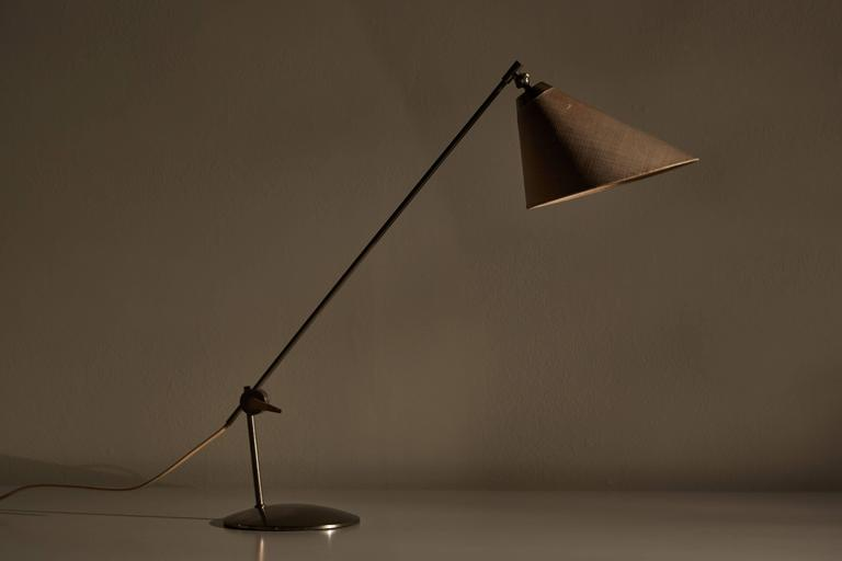 Mid-Century Modern Rare Articulating Table Lamp by Povl Dineson For Sale