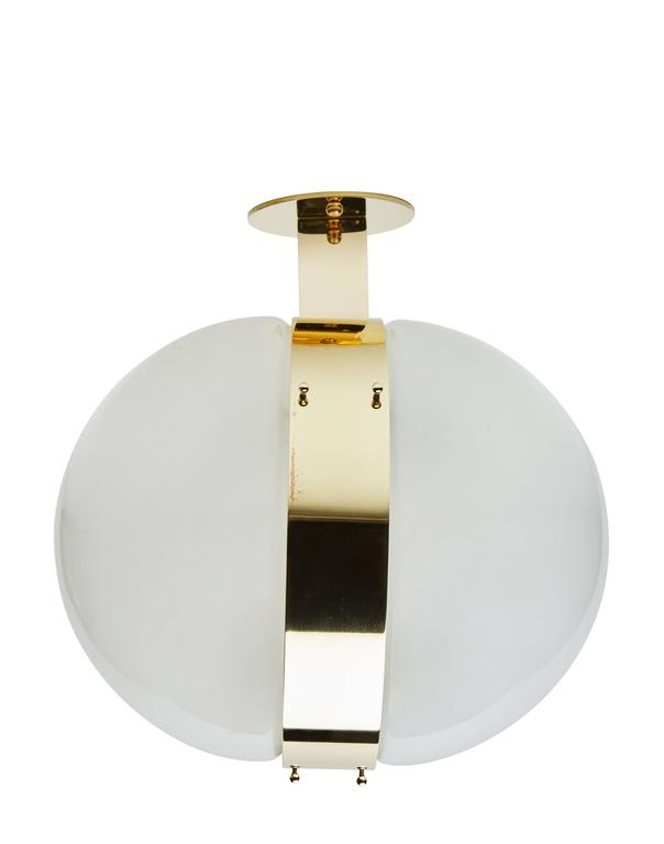 """Eight Glass and Brass """"Clio"""" Wall or Ceiling Lights by Sergio Mazza 2"""