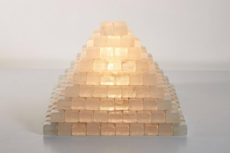 Glass Pyramid Table Lamp in the style of Poliarte 5