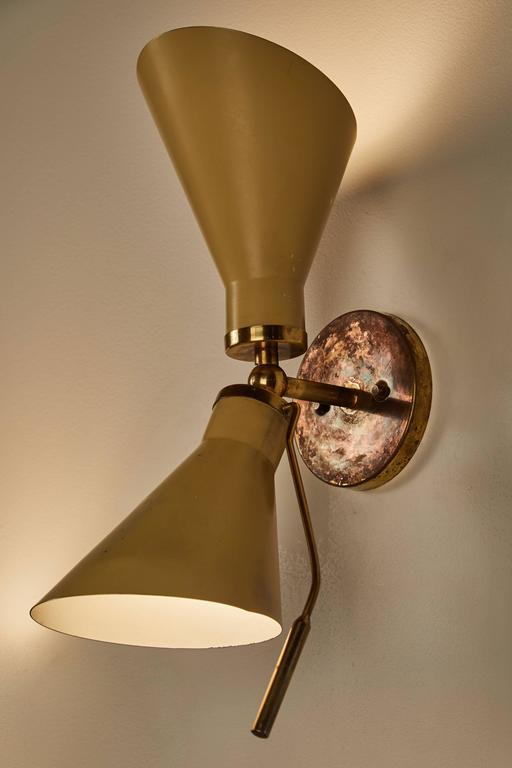 Pair of Model 131 Articulating Sconces by Gino Sarfatti In Excellent Condition For Sale In Los Angeles, CA