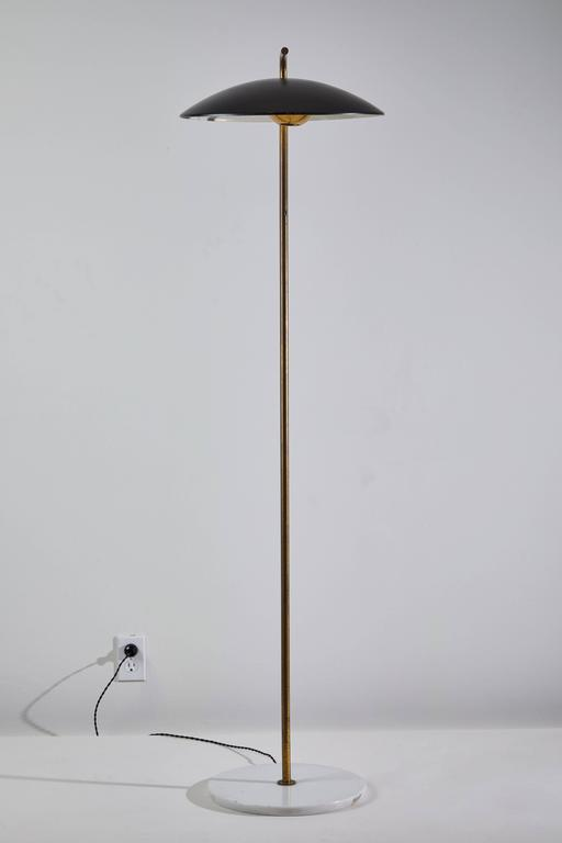 Italian Rare Floor Lamp by Stilnovo For Sale