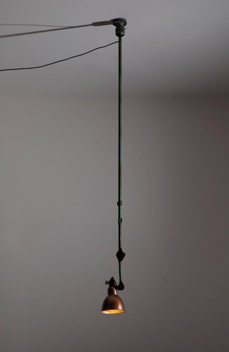 Industrial Model No. 302 Adjustable Ceiling Light by Gras Ravel For Sale