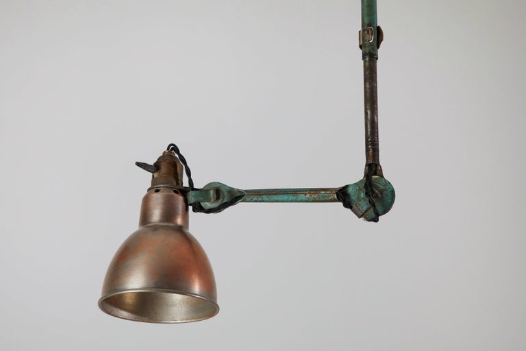 Early 20th Century Model No. 302 Adjustable Ceiling Light by Gras Ravel For Sale