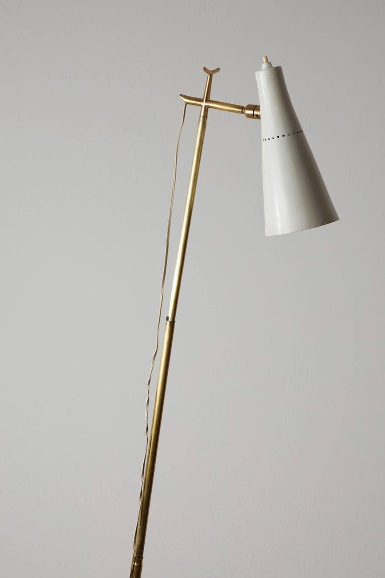 Aluminum Model 201 Floor Lamp by Giuseppe Ostuni for Oluce For Sale