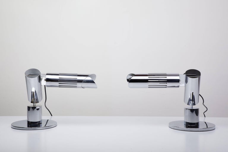 Pair of Table Lamps by Gabriel D'ali for Franseconi 2