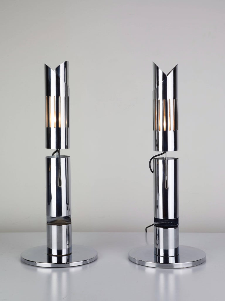 Pair of Table Lamps by Gabriel D'ali for Franseconi 6