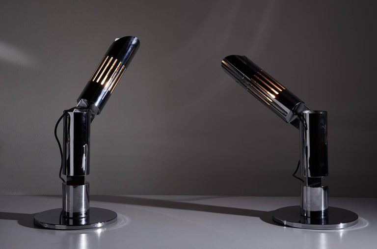 Italian Pair of Table Lamps by Gabriel D'ali for Franseconi For Sale