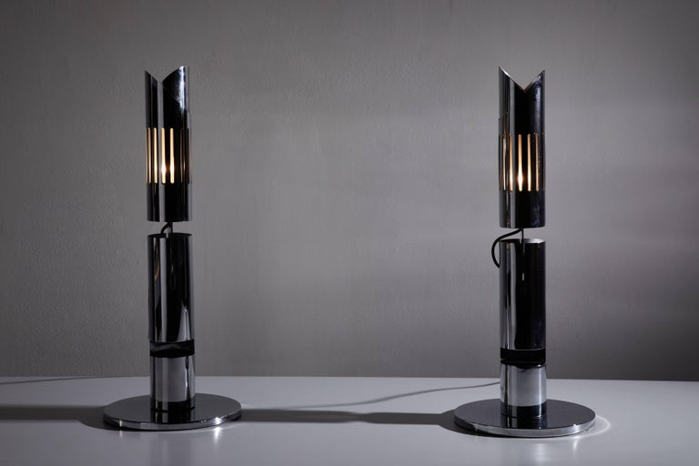 Mid-Century Modern Pair of Table Lamps by Gabriel D'ali for Franseconi For Sale